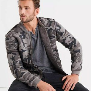 Lucky Brand Reversible Camo Bomber Jacket Medium
